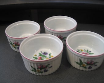 Vintage Rosalyn, Carleton Varney Design Large Ramekins, Set of Four
