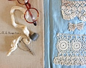 Antique Sample Book of Crochet Pieces*Sewing Inspiration*Sewing Cloth Sample Book