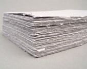 White handmade cotton papers, deckle edge, 5.5 x 8.5, set of 10