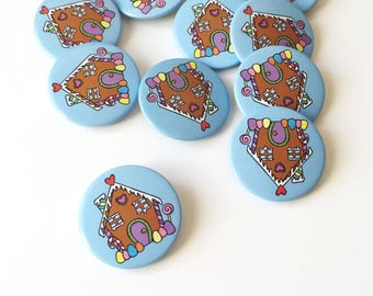 Gingerbread House Button Badge Pin Cute Button Pathes and Pins Accessories Cute Pin