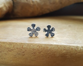 Flower Earrings, Silver earrings, Flower jewelry, Floral earrings, Earrings flower, Summer earrings, Flower stud earrings, Flower, Stud