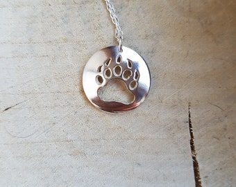 Silver Bear Claw Necklace Pendant Bear Jewellery