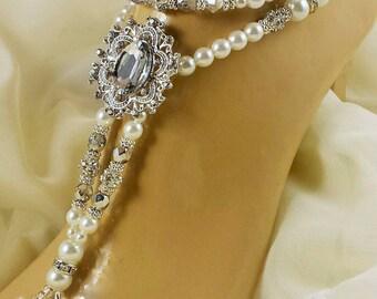 Swarovski Beach Wedding Anklet Destination Wedding Bridal Accessories
