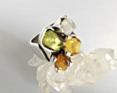 colorful ring, adjustable ring, resin ring, silver ring, ring for women, women ring, her ring, ring gift her, stone ring, zamak silver
