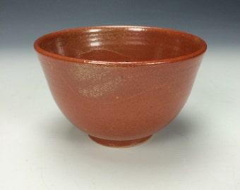 Shino Orange Ceramic Bowl, Clay Bowl, Soup Cereal Pasta Rice Bowl, Unique Kitchen Dips Bowl