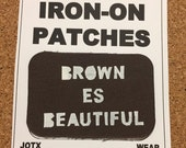 Brown is beautiful iron on patch