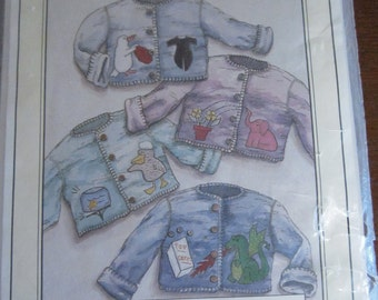 Children's Appliqued Polar Fleece Jackets Patten