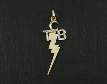 Elvis Presley Pendant TCB , Yellow Gold 14Kt  - made in italy