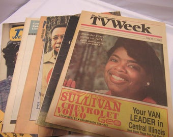 Vintage T.V Guide Cover s African American, Oprah Winfrey, Alex Haley and others
