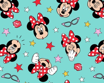 Minnie Mouse Silly Faces  cotton   Crib/toddler fitted  sheet