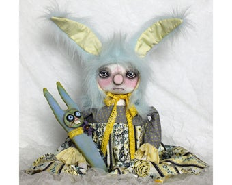 PriMiTive FoLk Art Doll*EaSteR*OOAK ArT Doll*BuNny