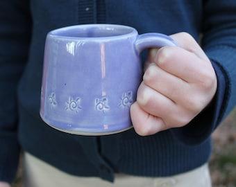 Children's Mug, Purple, Kid pottery cup, handmade, grandchild gift, MADE TO ORDER