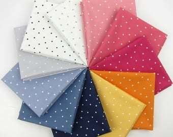Intermix Basics Polka Dot Fat Quarter Bundle - Dear Stella - 11 Fat Quarters - 2.75 Yards Total