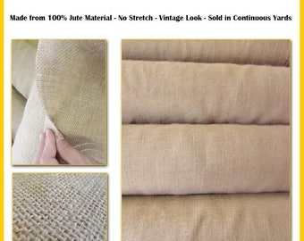 "Natural Burlap Fabric Roll - 50 YARDS - 40"" Width Hessian Fabric Craft Sack Wreath Hammock Table Runner Decorations Jute"