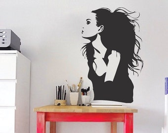 Jolie Wall Decal, Angelina Jolie Wall Art, Celebrity Actress Wall Mural Sticker, Celebrity Icon Wall Vinyl Decal, Movie Star Sticker, b40
