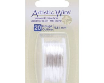 Artistic Wire Silver Plated Tarnish Resistant Silver 20GA - wire wrapping craft wire jewelry wire beadalon jewelry making (1598)