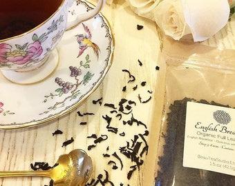 English Breakfast Organic Tea / Loose Leaf Tea / Organic Tea / Black Tea / Morning Brew