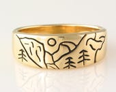 For Toby only Yosemite Ring in 14k Yellow Gold size 7 3/4, Yosemite Sterling size 4.5, Yosemite