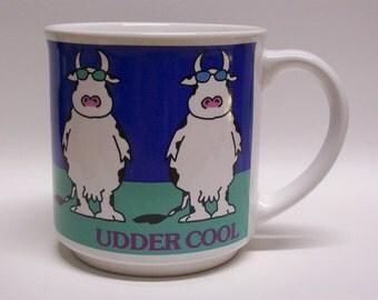 Sandra Boynton Udder Cool Cow Mug Recycled Paper Products 1980's