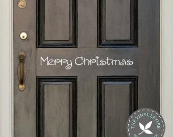 Merry Christmas Burst Door Entrance Wall Vinyl Decal Home Decor Sticker