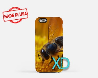 Honey Bee iPhone Case, Bee iPhone Case, Honey Bee iPhone 8 Case, iPhone 6s Case, iPhone 7 Case, Phone Case, iPhone X Case, SE Case