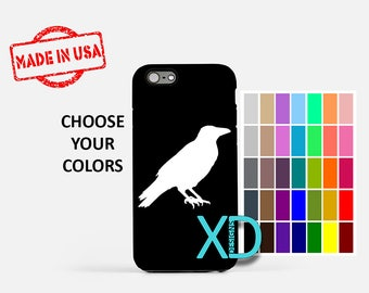 Simple Crow iPhone Case, Bird iPhone Case, Crow iPhone 8 Case, iPhone 6s Case, iPhone 7 Case, Phone Case, iPhone X Case, SE Case