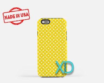Yellow Domino Phone Case, Yellow Domino iPhone Case, Canary iPhone 7 Case, White, Canary iPhone 6 Case, Yellow Domino Tough Case, Clear Case