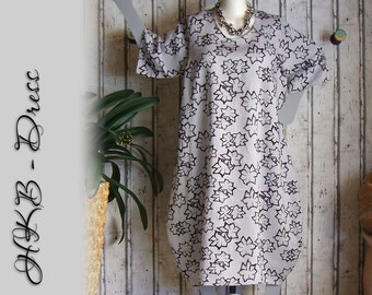 Plus sizes - US 18 - 24, UK 20 - 26 , Balloon dress -leightweight linen, European Layering Look