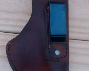 IWB sub compact holster hang stitched