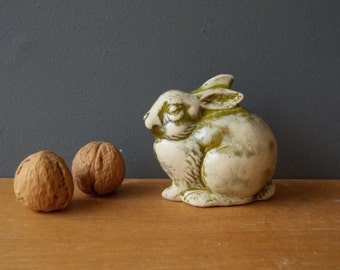 In Love with Hares / Stoneware ceramic Bunny / Rabbit / Easter Bunny / Miniature /