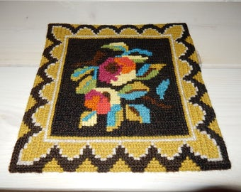 Swedish hand embroidered wall hanging 1970 s / old motif