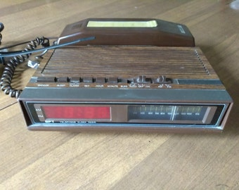 Vintage Brown GPT Clock Radio with Telephone-Rare Find