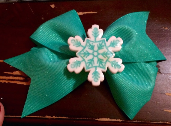 Big snowflake bow (blue)