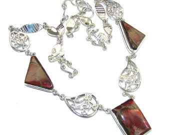 Ammolite Sterling Silver Necklace - weight 29.10g - dim 1 1 8 inch - code 27-sty-16-10