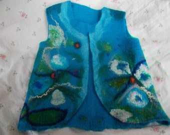 Felted vest - Felt cape - Wool vest - Capelet - Wool cape - Cape coat, Warm coat, Woolen coat - Blanket scarf - Gifts for mom - Gift for her