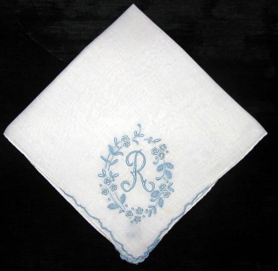 Wedding Keepsake Handkerchief Vintage Bride Hankie Something
