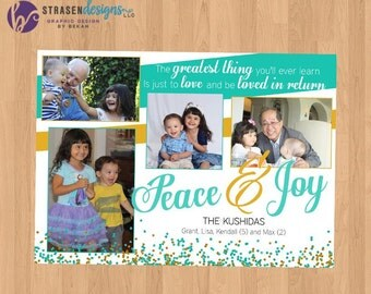 Peace & Joy Photo Christmas Card
