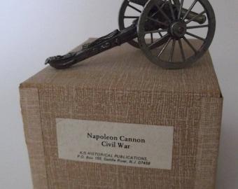 Vintage Miniature Napoleonic Cannon Civil War 12 pounder with Original Box and Info
