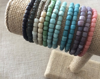 Recycled Indonesian glass bracelets