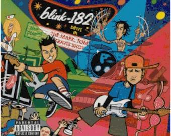 Blink 182 Mark Tom Travis Show Cross Stitch Pattern