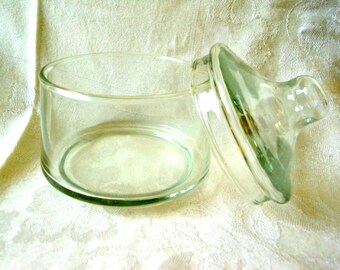 Vintage Round Clear Candy Dish