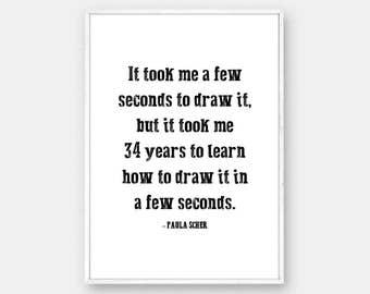 Paula Scher Graphic Design Quote, Typography Print