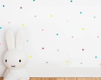 Wall Sticker Happy Triangles