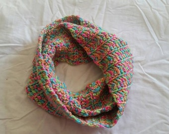 Clearance Crochet Wool/Acrylic Infinity Scarf Ready to Ship