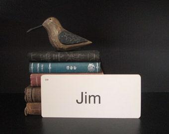 Vintage Flash Card Jim