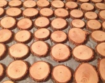 50 NATURAL Pine Wood slice coasters