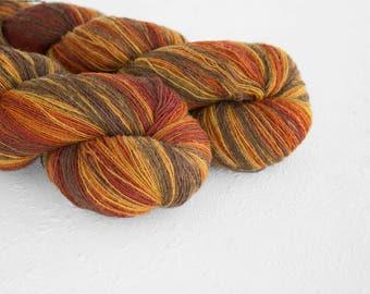 Artistic wool, laceweight art wool rustic colors, Longstriped artistic wool. Brown, rust, honey colors