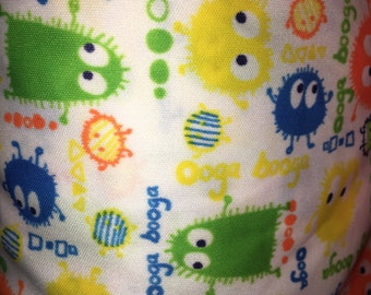 Preppy Ooga Booga Print Polyester Interlock Fabric