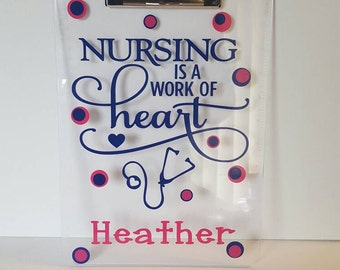 Personalized Clipboard...Nurse Gift...Customizable Gift
