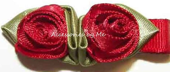 Rose Hair Clip, Red Flower Clips, Baby Clippie, Girls Alligator Clip, Infant Hair Clips, Floral Hair Clip, Flower Girl Clip, Occasion Clips
